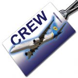 Ukraine International ERJ-190 (no logo) Crew Tag
